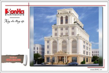 Thiết kế tổ hợp khách sạn nhà hàng trung tâm tổ chức sự kiện đẹp – SH KS 0029 18