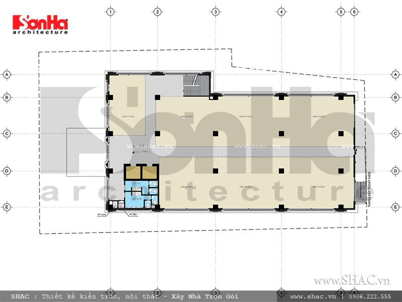 Mặt bằng tầng 3 - 4 khách sạn nhà hàng trung tâm tổ chức sự kiện sh ks 0029