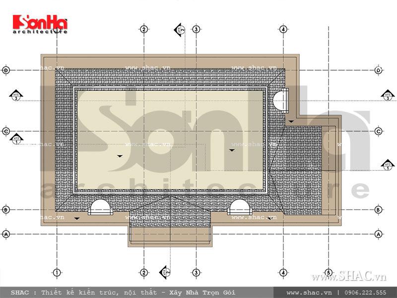 Mẫu thiết kế biệt thự Pháp 2 tầng mặt tiền rộng tại Sài Gòn – SH BTP 0093 14