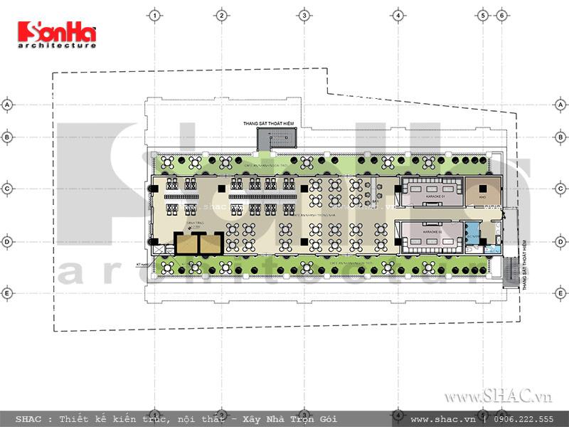 bản vẽ tầng 7 của tổ hợp khách sạn nhà hàng kiến trúc pháp tại quảng ninh