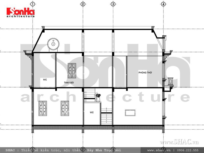 Mẫu thiết kế biệt thự Pháp 2 tầng mặt tiền rộng tại Sài Gòn – SH BTP 0093 9