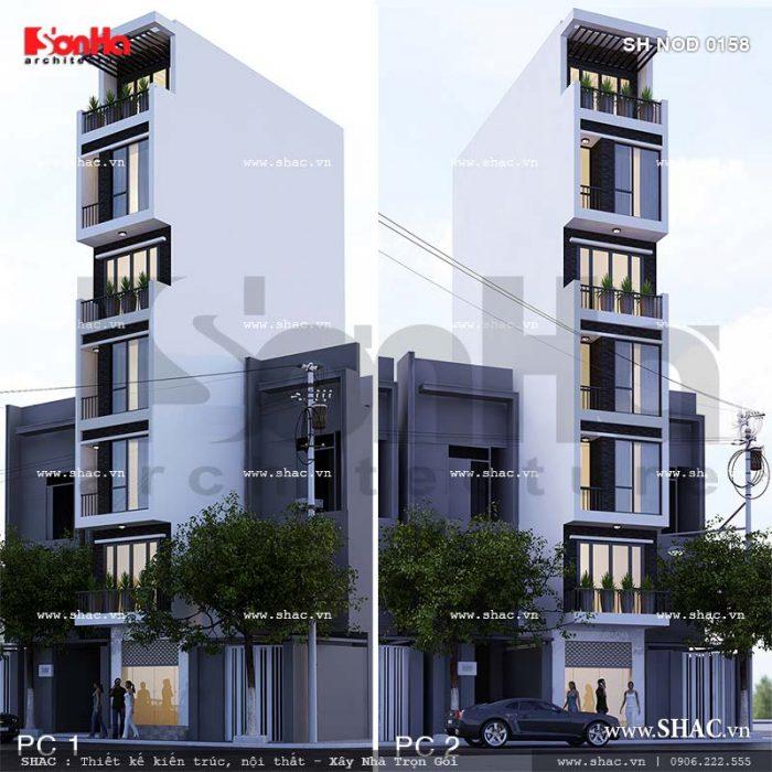 Mẫu thiết kế nhà ống hiện đại 7 tầng của Sơn Hà Group
