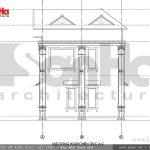 Mặt đứng A-C biệt thự kiến trúc Pháp tại Tiên Lãng Hải Phòng sh btp 0095