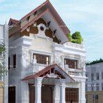 Thiết kế biệt thự kiến trúc cổ điển Pháp 2 tầng tại Tiên Lãng Hải Phòng sh btp 0095