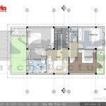 Thiết kế mặt bằng tầng 2 biệt thự hiện đại 3 tầng tại Hải Phòng sh btd 0047