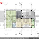 Thiết kế mặt bằng tầng 3 biệt thự hiện đại 3 tầng tại Hải Phòng sh btd 0047