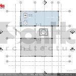 Mặt bằng tầng tum biệt thự 2 tầng tại Hưng Yên sh btd 0046