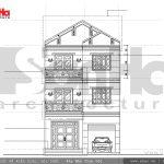 Thiết kế mặt đứng biệt thự hiện đại 3 tầng tại Hải Phòng sh btd 0047