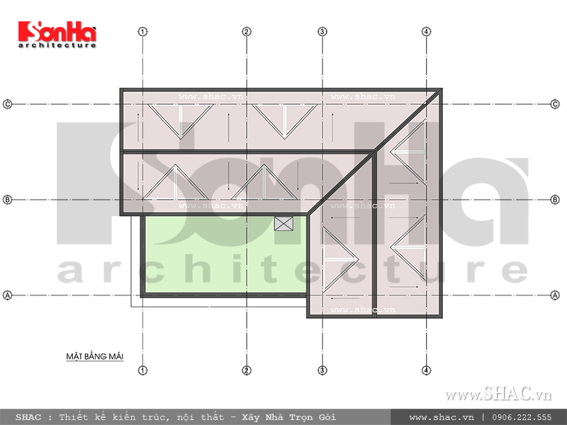 Mẫu thiết kế biệt thự kiến trúc Pháp 2 tầng tại Hải Phòng - SH BTP 0095 12