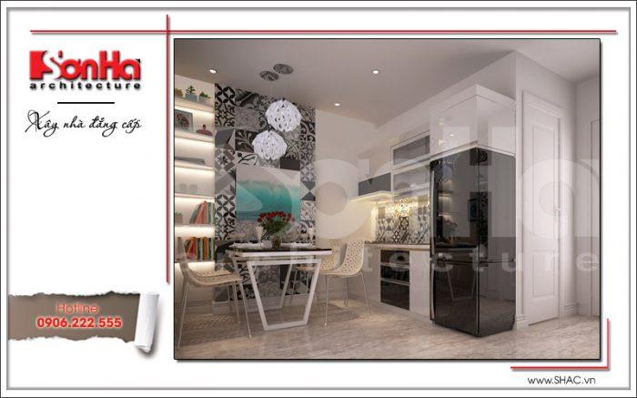thiết kế phòng ăn và bếp hiện đại đẹp