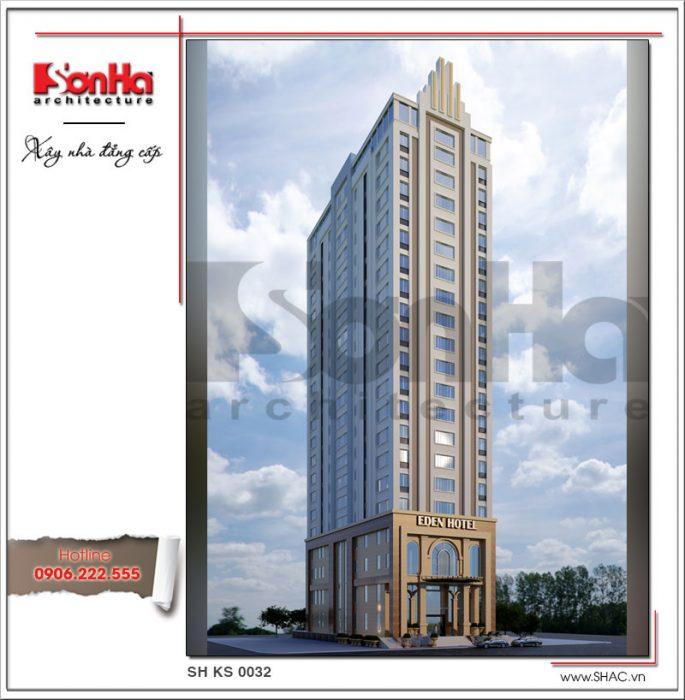 Mẫu thiết kế khách sạn hiện đại tiêu chuẩn 4 sao tại Đà Nẵng sh ks 0031