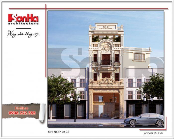 Ra mắt mẫu thiết kế nhà phố cổ điển 4 tầng tại Nam Định sh nop 0125