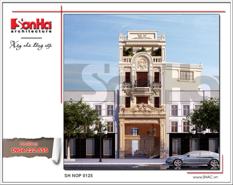 Ra mắt mẫu thiết kế nhà phố cổ điển 4 tầng tại Nam Định - SH NOP 0125 1