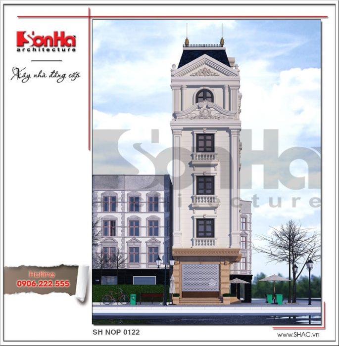 Thiết kế nhà phố cổ điển 5 tầng tại Hải Phòng xu hướng 2017 sh nop 0122