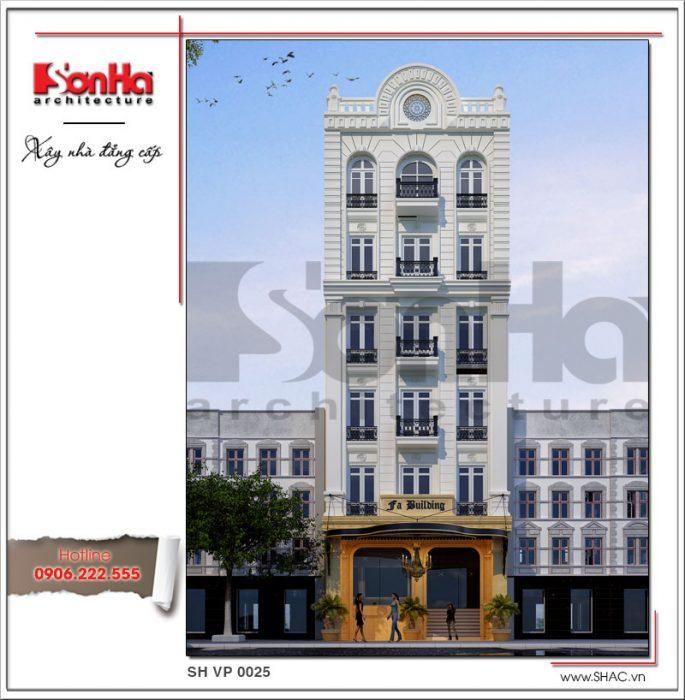 Thiết kế tòa nhà văn phòng đẹp 7 tầng tai Sai Gon sh vp 0025