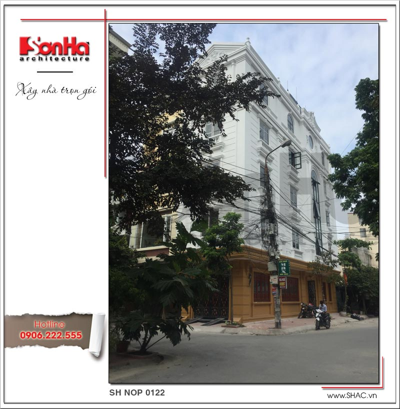 Thiết kế nhà phố cổ điển 5 tầng tại Hải Phòng xu hướng [next_year] - SH NOP 0122 14