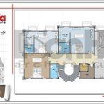 Mặt bằng tầng 5 biệt thự cổ điển Pháp tại Vũng Tàu sh btld 0024