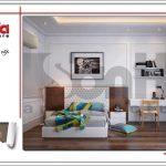 Mẫu thiết kế nội thất phòng ngủ hiện đại 6 sang trọng sh nop 0122