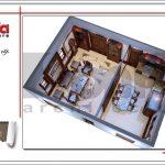 Thiết kế nội thất phòng bếp nhà phố cổ điển sh nop 0125