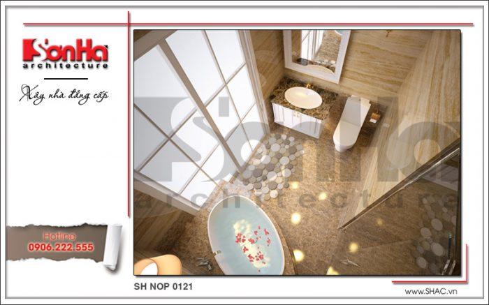 Thiết kế nội thất phòng tắm vệ sinh phòng ngủ VIP nhà phố kiến trúc Pháp sh nop 0121