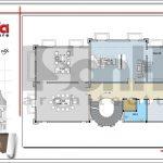 Mặt bằng tầng 6 biệt thự cổ điển Pháp tại Vũng Tàu sh btld 0024