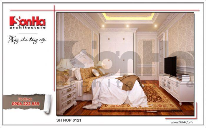 Mẫu thiết kế nội thất phòng ngủ khách nhà phố kiến trúc Pháp sh nop 0121