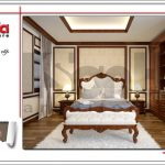 Thiết kế nội thất phòng ngủ đẹp nhà phố cổ điển sh nop 0125