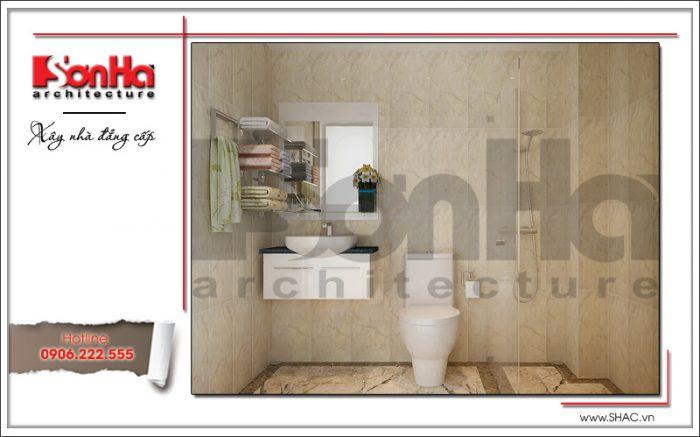 Thiết kế nội thất phòng tắm khách sạn mini 4 tầng kiến trúc cổ điển sh ks 0031