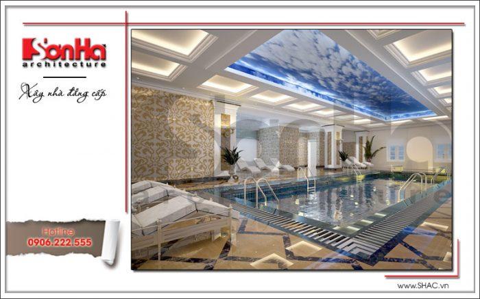 Mẫu thiết kế nội thất bể bơi khách sạn tại Đà Nẵng sh ks 0031