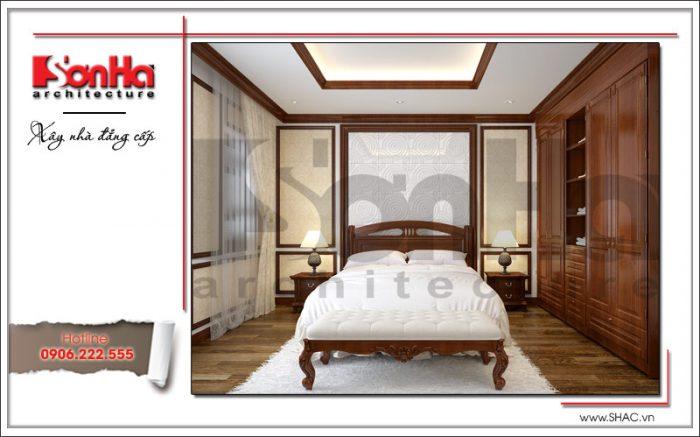 Thiết kế nội thất phòng ngủ 2 nhà phố cổ điển sh nop 0125