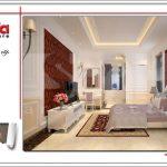 Thiết kế nội thất phòng ngủ ấm áp sh btd 0048