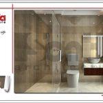 Thiết kế nội thất phòng tắm hiện đại sh nop 0122