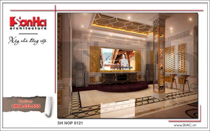 Thiết kế nội thất phòng karraoke đẹp nhà phố kiến trúc Pháp sh nop 0121