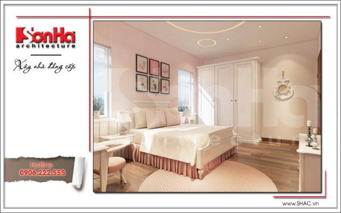 Một phong cách hoàn toàn khách nhưng rất sang trọng và đẹp mắt của phòng ngủ biệt thự