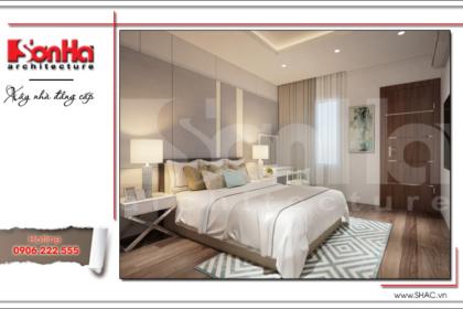 Thiết kế nội thất phòng ngủ hiện đại sang trọng sh btd 0048