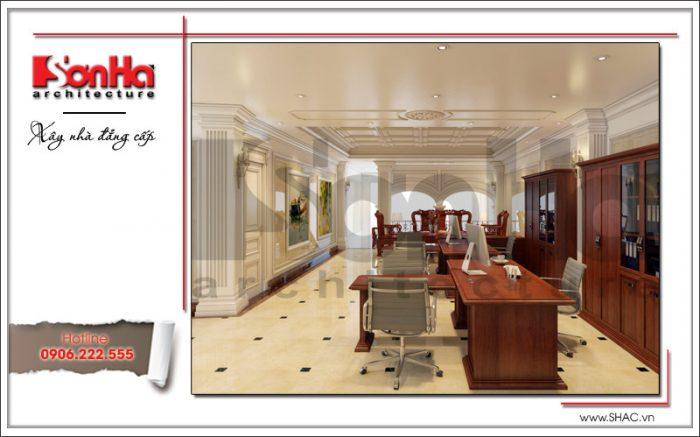 Thiết kế nội thất phòng sinh hoạt nhà phố cổ điển sh nop 0125