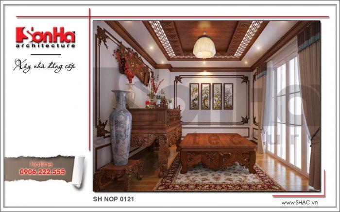 Thiết kế nội thất phòng thờ nhà phố kiến trúc Pháp sh nop 0121