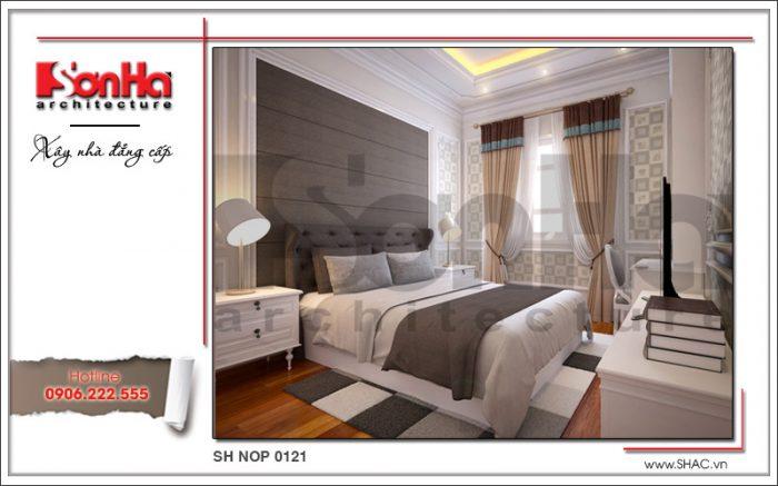 Mẫu thiết kế nội thất phòng ngủ con trai 1 nhà phố kiến trúc Pháp sh nop 0121