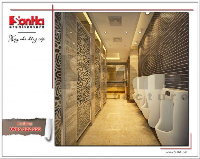 Thiết kế nội thất phòng vệ sinh nam khách sạn tại Đà Nẵng sh ks 0031
