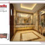 Mẫu thiết kế nội thất phòng vệ sinh nam khách sạn tại Đà Nẵng sh ks 0031