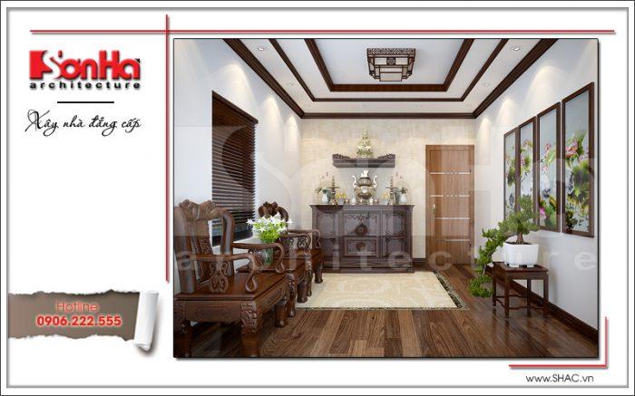 Thiết kế nội thất phòng thờ trang nghiêm sh btd 0048