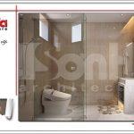 Thiết kế nội thất nhà tắm phong cách hiện đại đẹp sh btd 0048