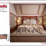 Thiết kế nội thất phòng ngủ 5 cỏ điển đẹp đơn giản SH BTLD 0023