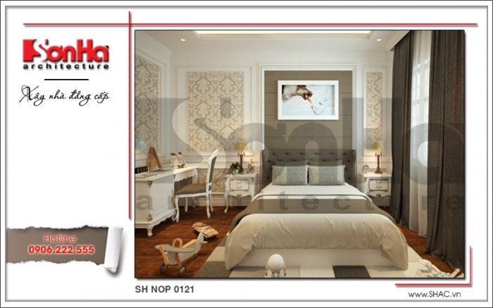 Thiết kế nội thất phòng ngủ con trai 2 nhà phố kiến trúc Pháp sh nop 0121