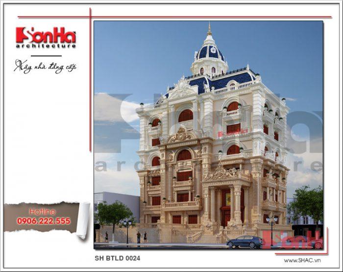 Một phiên bản khác của tạo hình kiến trúc ngôi biệt thự cổ điển kiểu lâu đài 6 tầng tại Cần Thơ