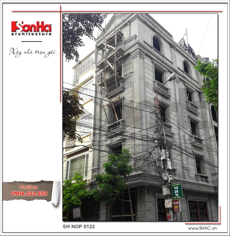 Thiết kế nhà phố cổ điển 5 tầng tại Hải Phòng xu hướng [next_year] - SH NOP 0122 16