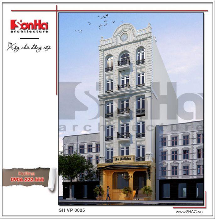 Mẫu thiết kế tòa nhà văn phòng đẹp 7 tầng tai Sai Gon sh vp 0025