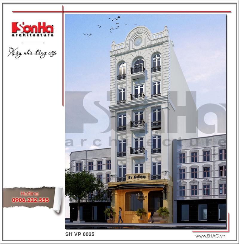 Kiến trúc đẹp của mẫu thiết kế tòa nhà văn phòng cổ điển đẹp nhất được yêu thích tại Hà Nội