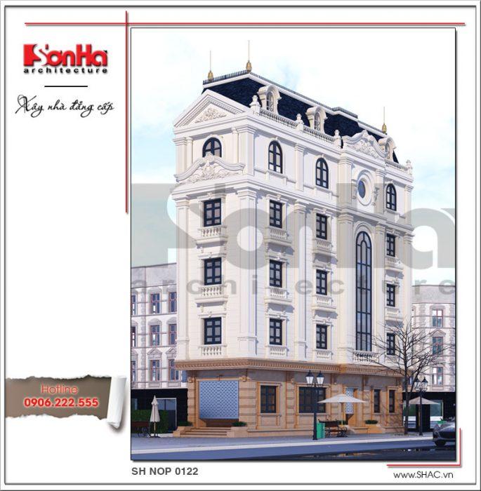 thiết kế nhà 90m2 kiến trúc pháp cao tầng