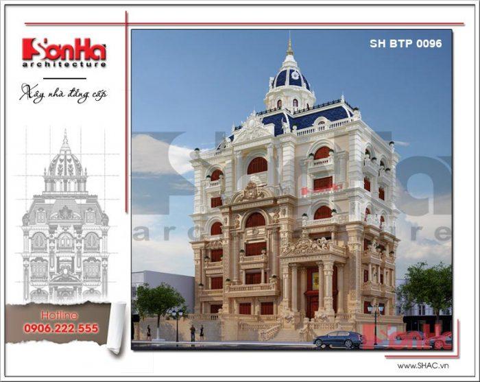Mẫu thiết kế biệt thự 6 tầng phong cách cổ điển mang diện mạo sang trọng và đẳng cấp tại Cần Thơ